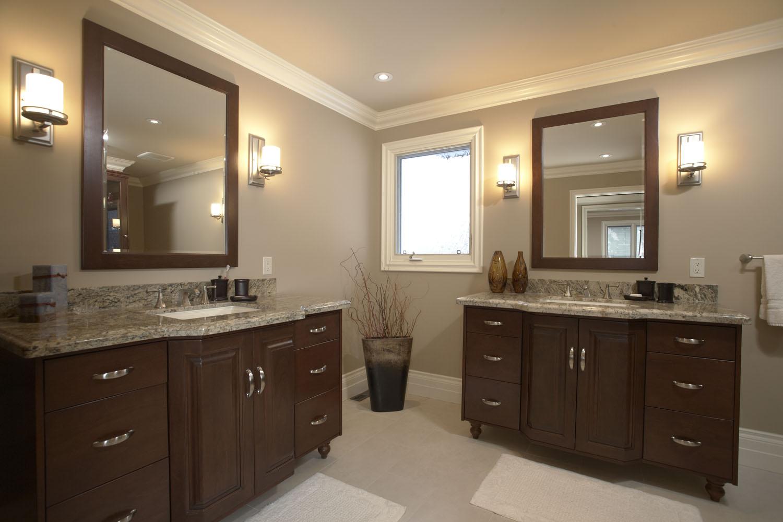 Varsity Master Bathroom - his and hers vanities