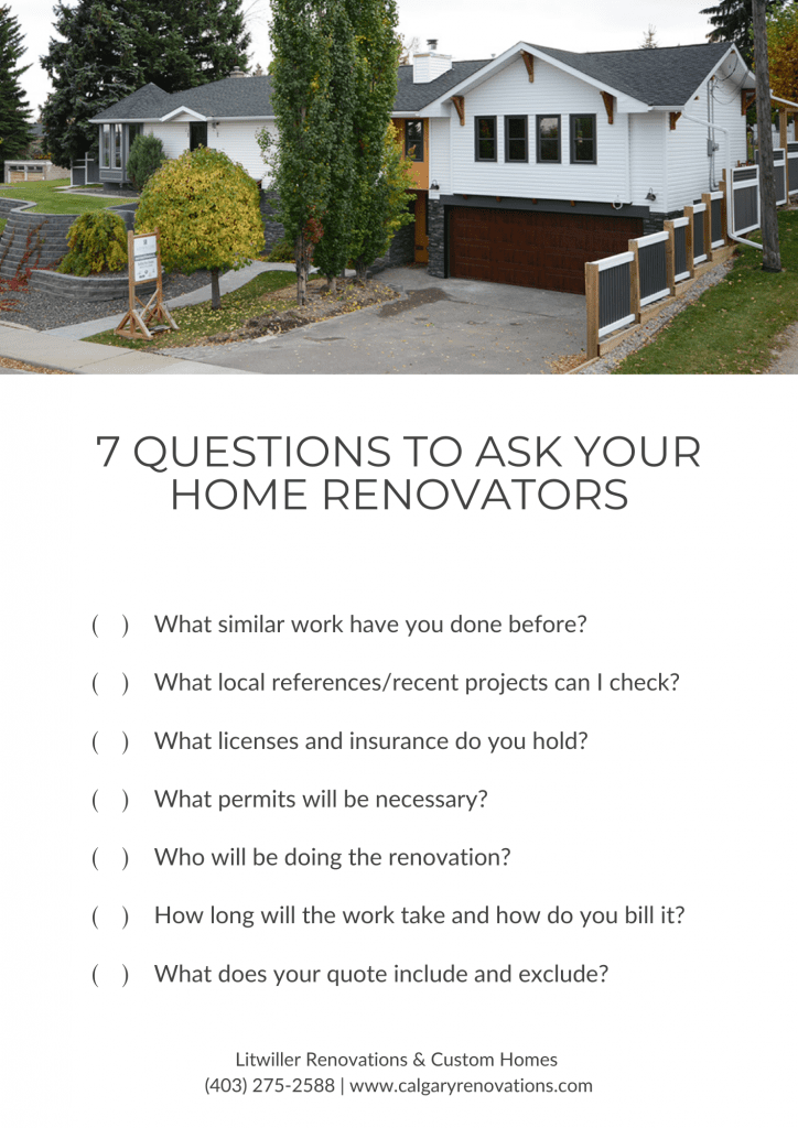 7 essential questions to ask your home renovators