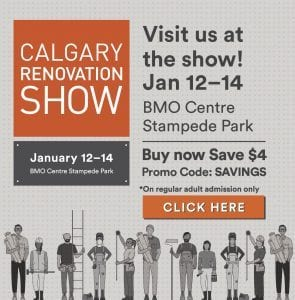 Calgary Home Renovation Show January 12-14, 2018